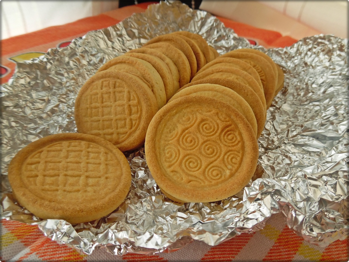 Galletas de mantequilla con sello
