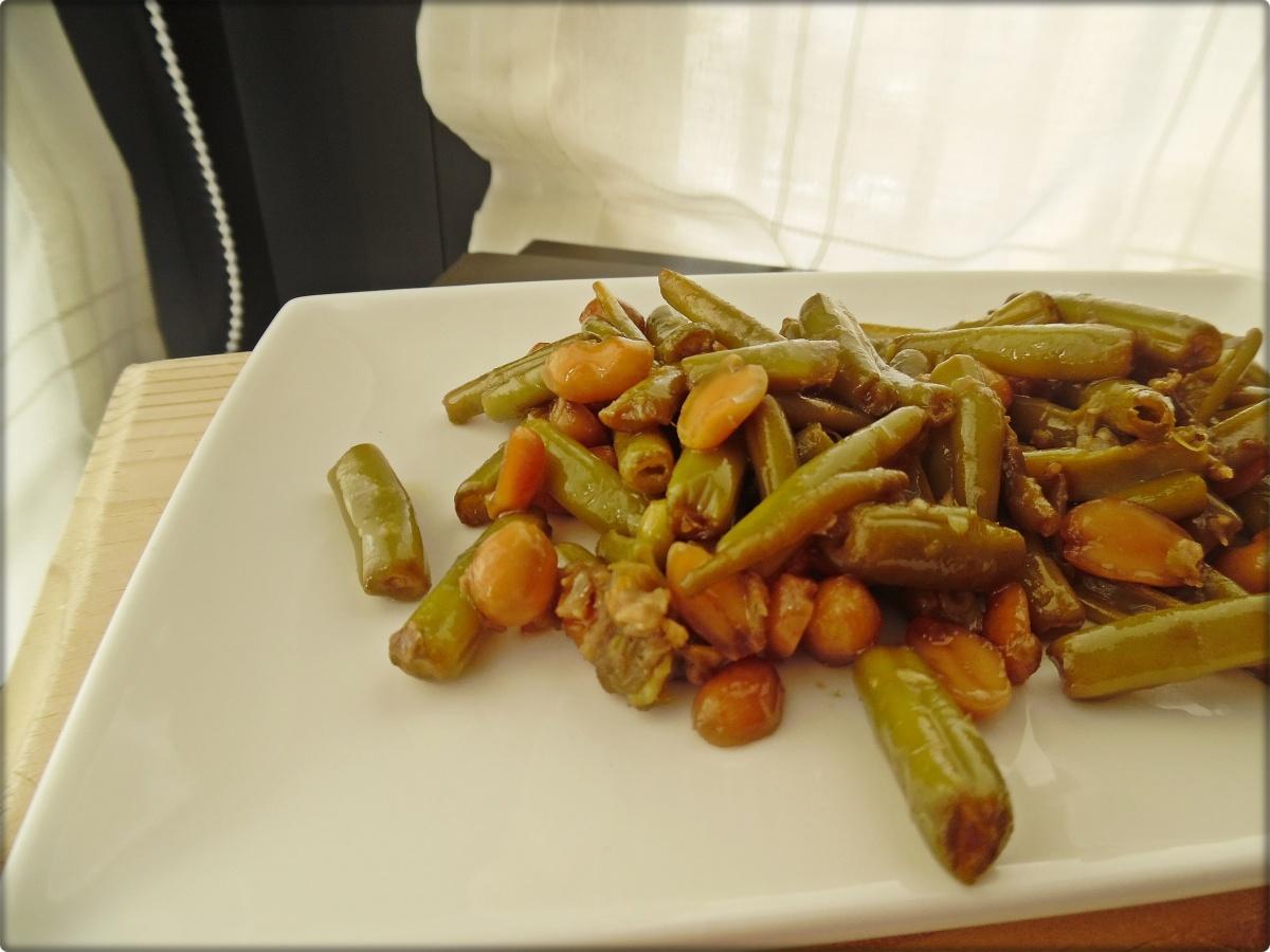 Judías verdes con cacahuetes